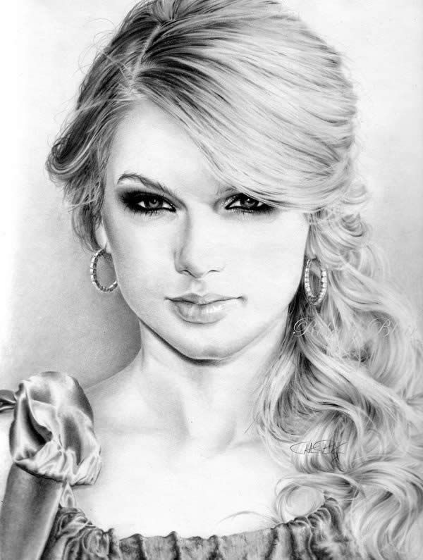 Drawn portrait taylor swift And this Pinterest Drawing Drawing
