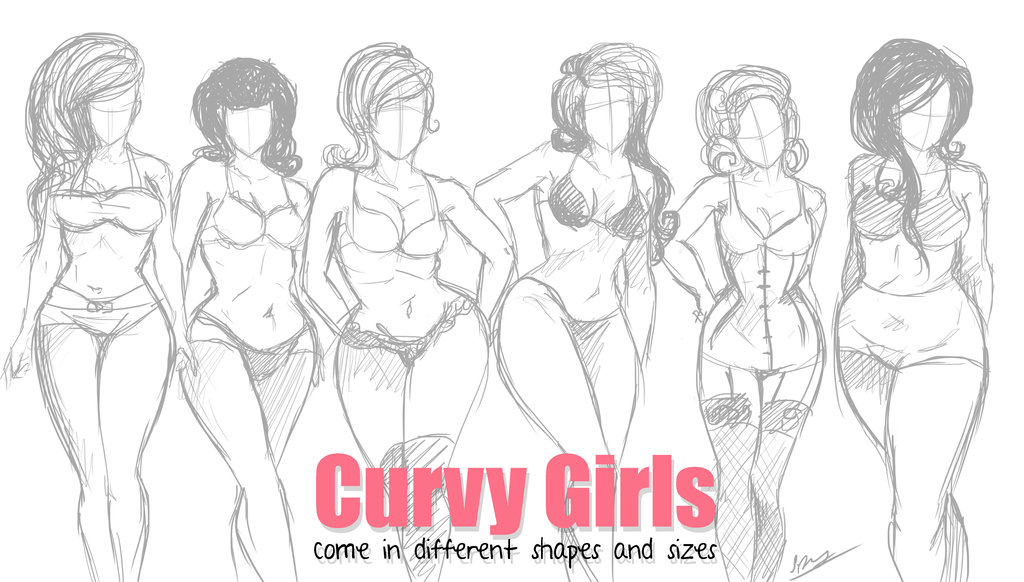 Drawn women curvy woman Pinteres… Curvy Curvy … by