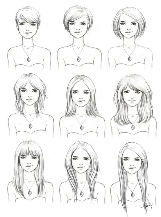 Drawn women different Short ideas 20+ how to