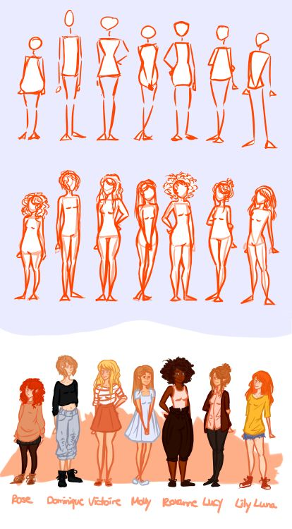 Drawn women different And to draw different How