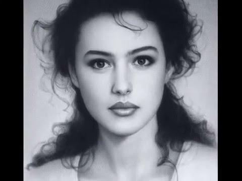Drawn portrait beautiful woman Slideshow  portrait YouTube My