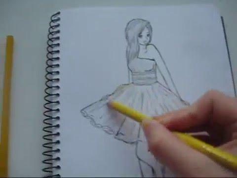 Drawn women dress drawing To dress YouTube a