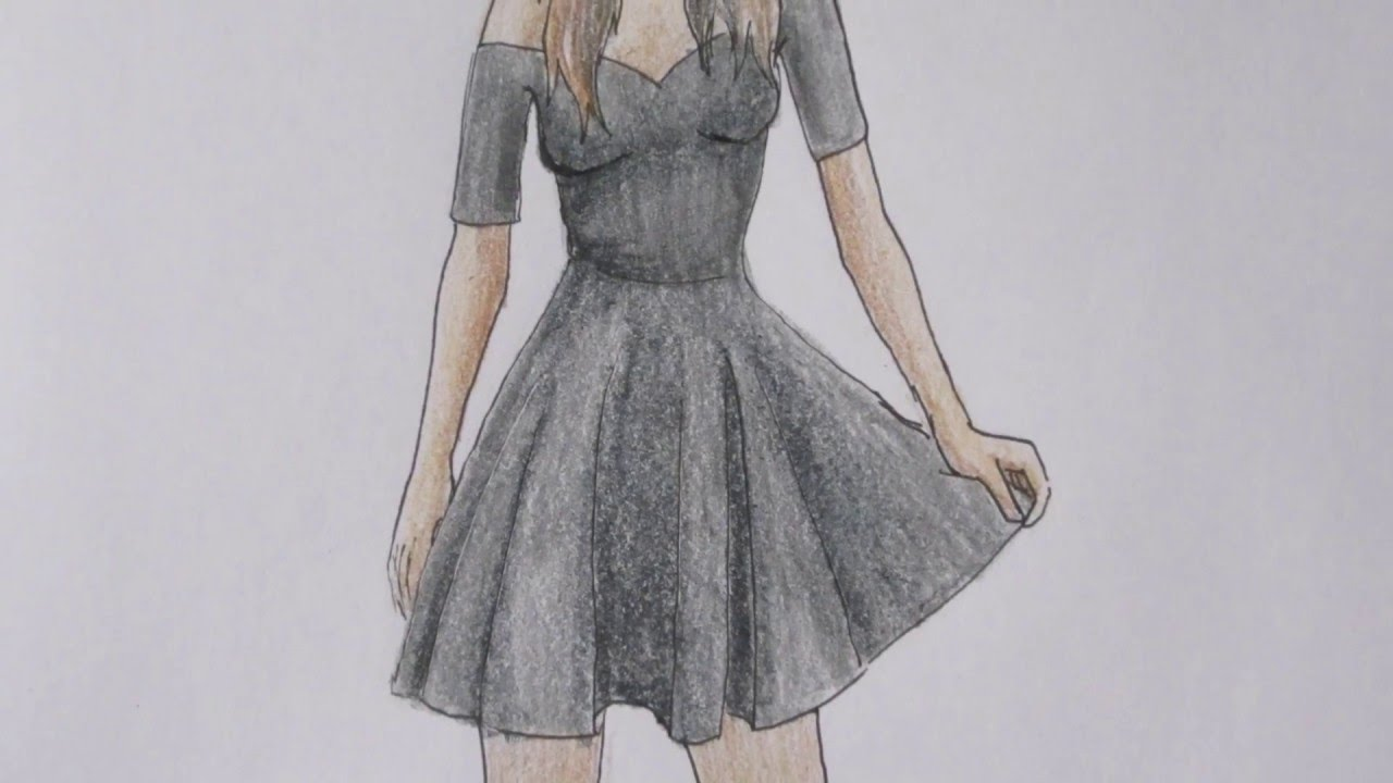 Drawn women dress drawing DRAW HOW TO a girl
