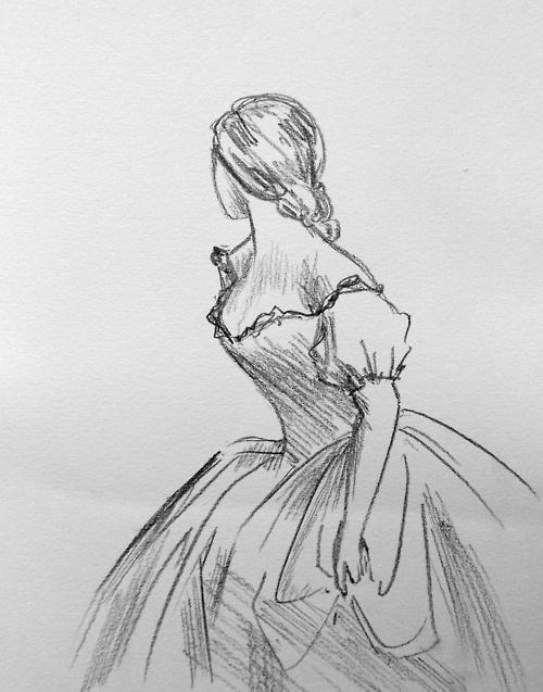 Drawn women dress drawing Woman 25+ Sketches women ideas