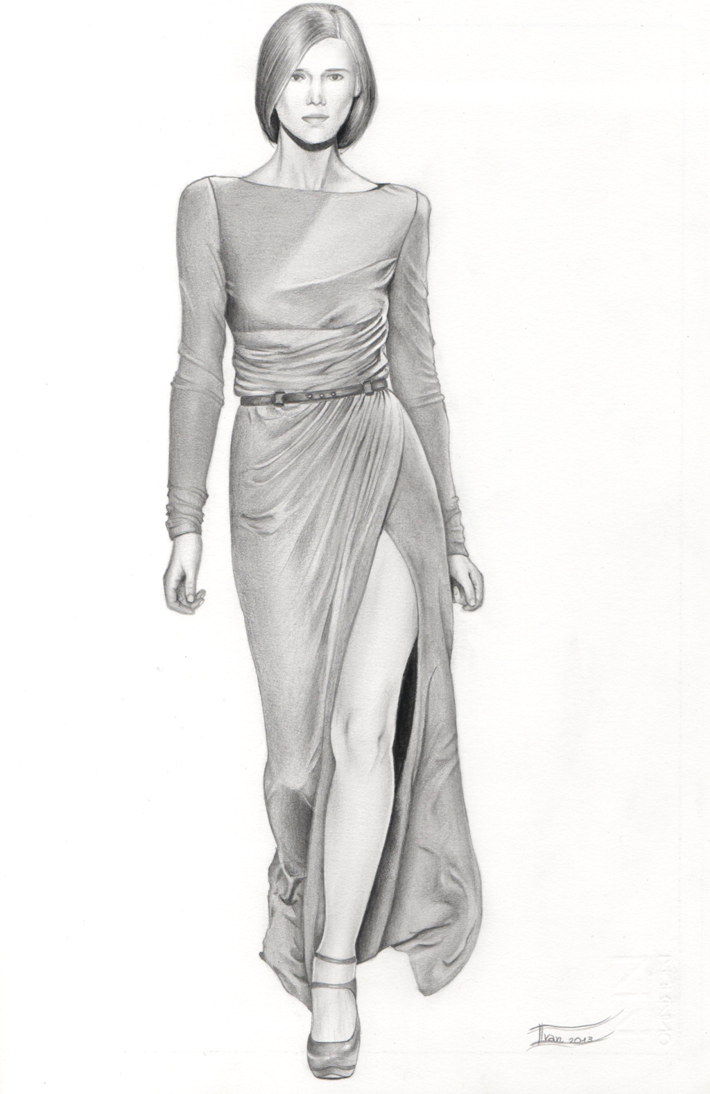 Drawn women dress drawing Of of a :) by