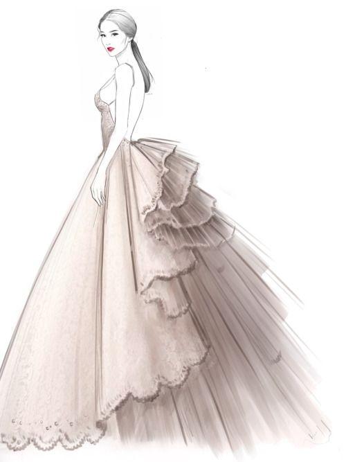 Drawn women dress drawing Illustrations Dress drawing on Pinterest