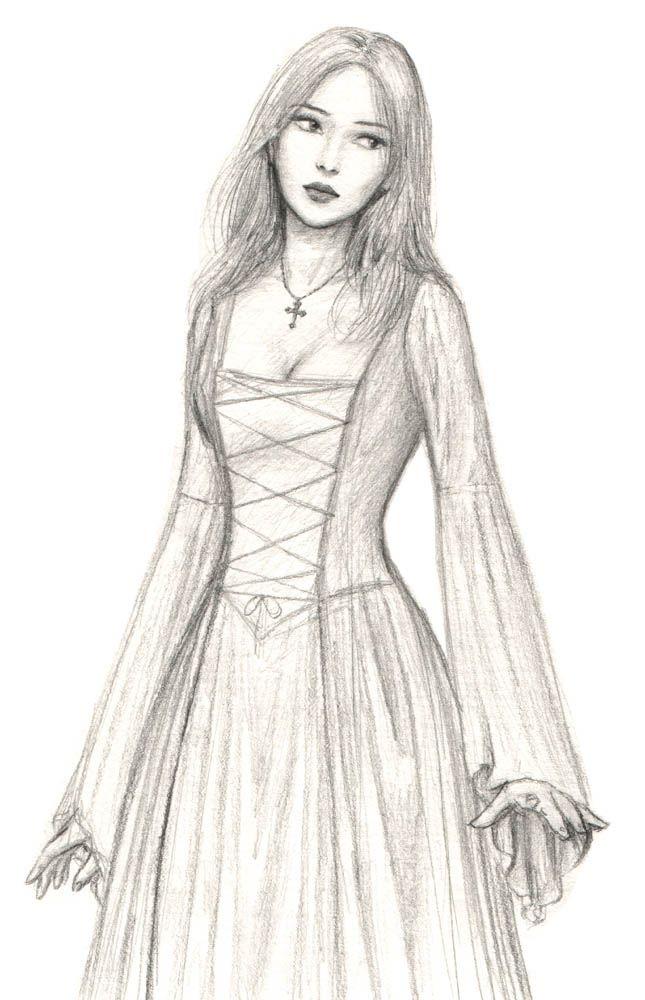 Drawn women dress drawing Me DrawingsSketch InspirationCharacter Best 25+
