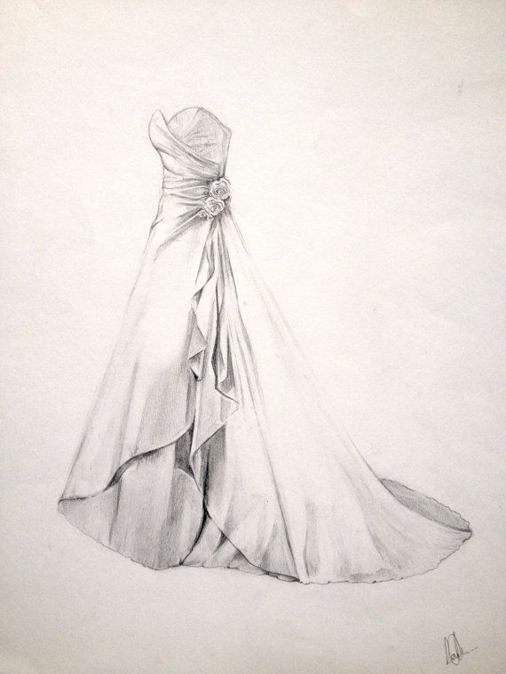 Drawn women dress drawing Your Portraits for Lifetime Wedding