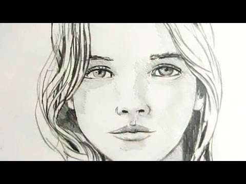 Drawn women face A Draw Female Face: YouTube