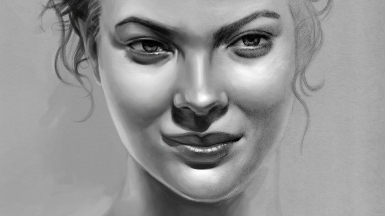 Drawn women face art Art Drawing Pinterest Drawing Art