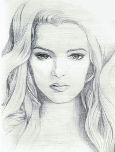 Drawn women face art SketchesPencil  graphite sketch face