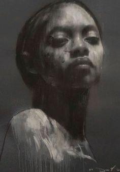 Drawn women face art Female american Artist: {figurative artist