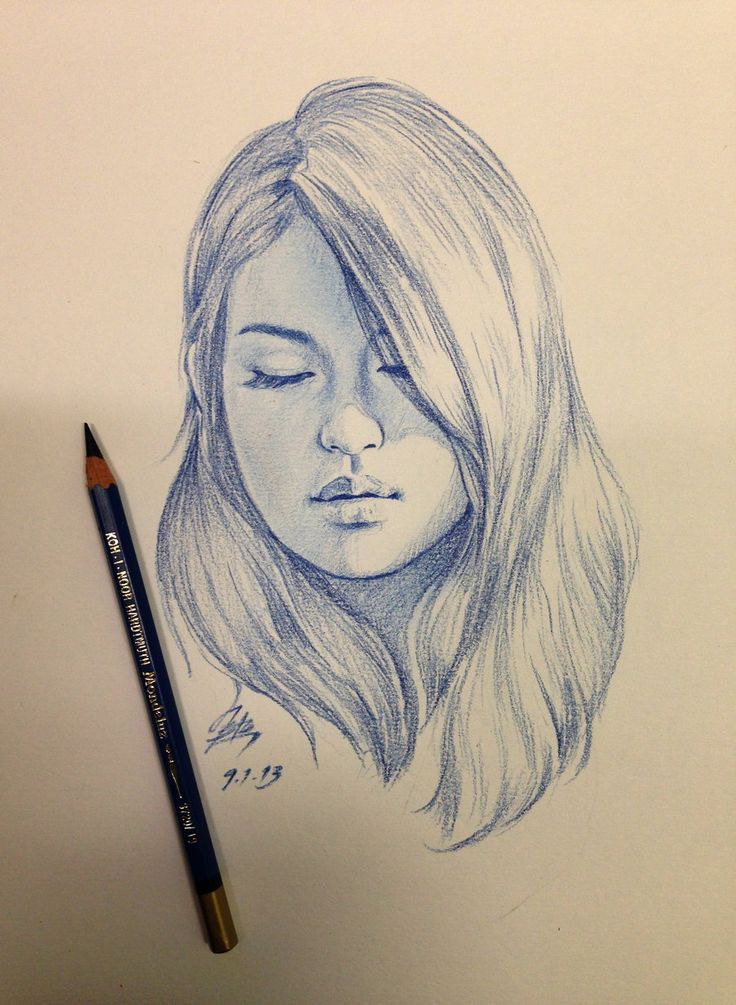 Drawn women face art Board on face Drawing girl's