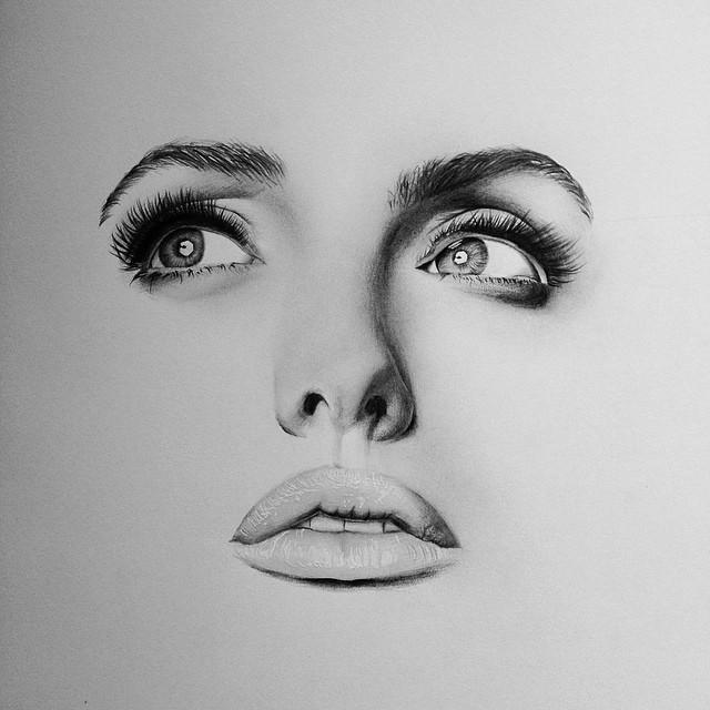 Drawn women face art Heart It drawings in by