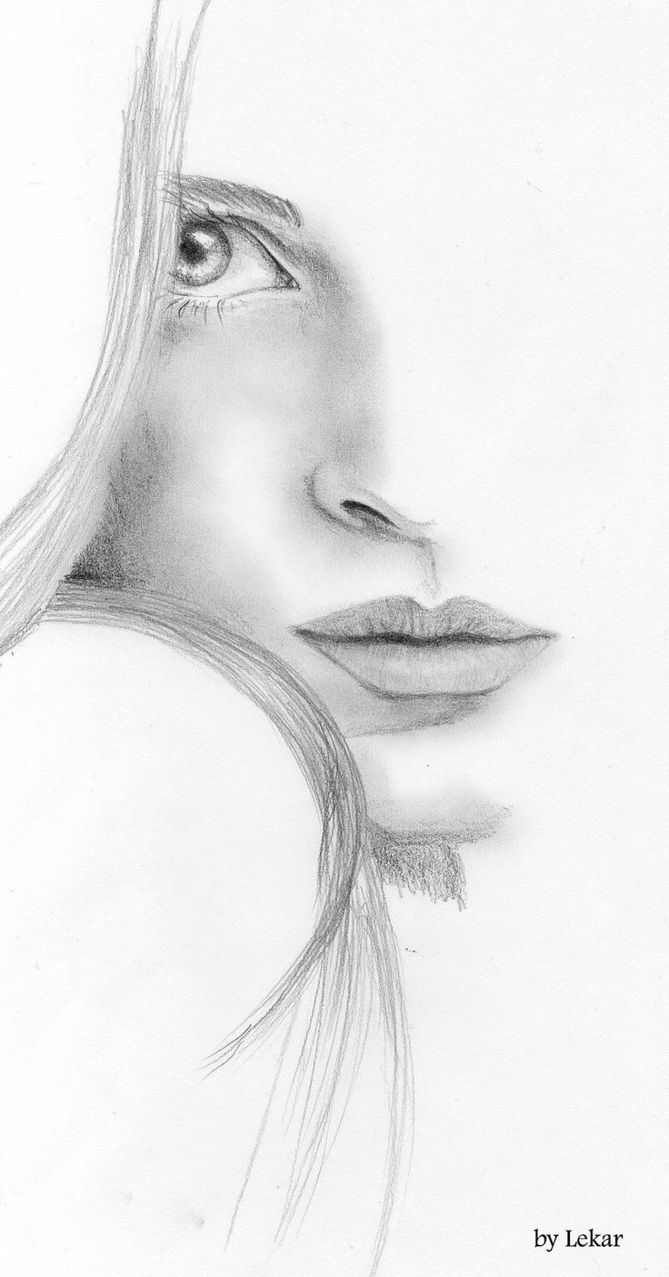 Drawn women face art DeviantART on Pencil Best Sketch