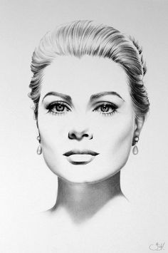 Drawn women face art Actress woman Artist: conté {contemporary