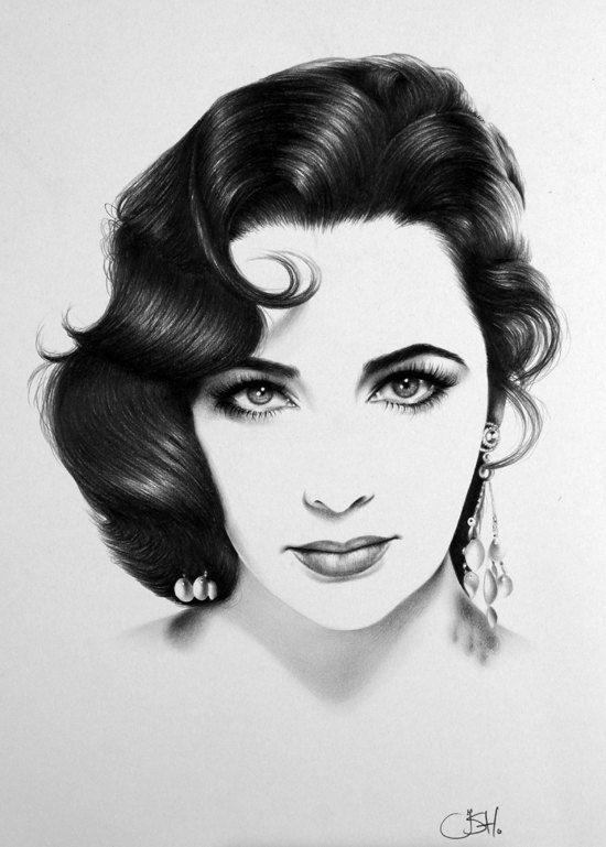 Drawn portrait vintage Pinterest drawn drawings celebrities how