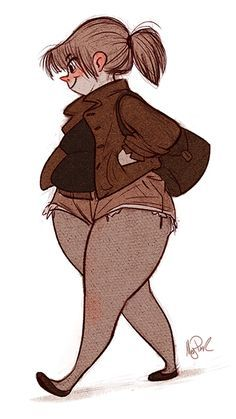 Drawn women female character Fat CharactersCartoon character 25+ ideas