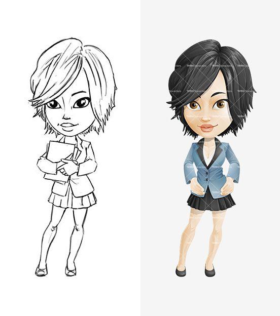 Drawn women female character On Cartoon Pinterest Characters ideas