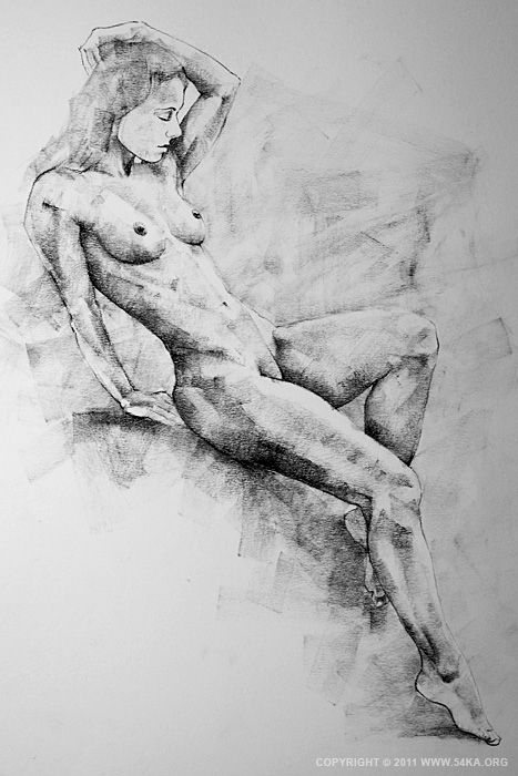 Drawn figurine pencil full body By Page  study 19
