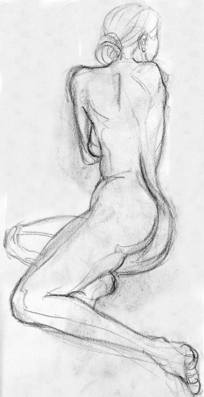 Drawn woman seductive #6