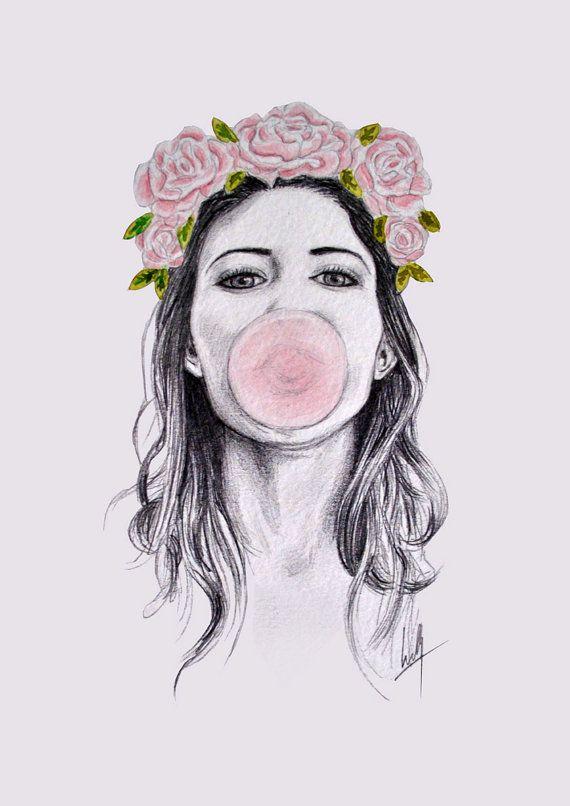 Drawn women flower crown Drawings best Find on 137