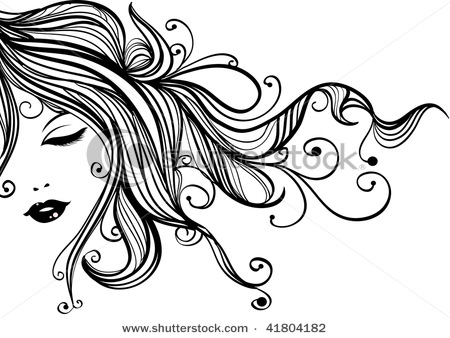 Hair clipart vector Beautiful a of Picture Cartoons