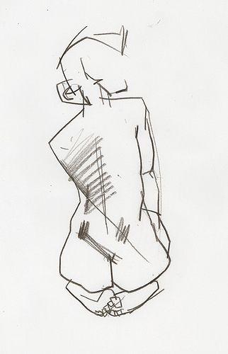Drawn figurine body Pinterest negative like geometric lines
