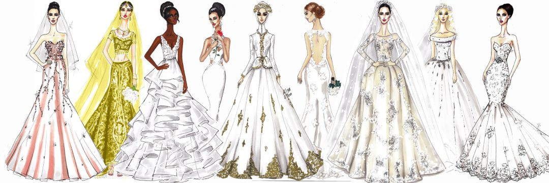 Drawn wedding DRESS: COURSE TO WEDDING dress