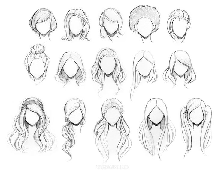 Drawn women hair Share drawing hairstyles character on