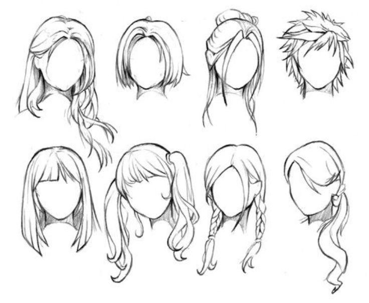 Drawn dall woman hairstyle #1