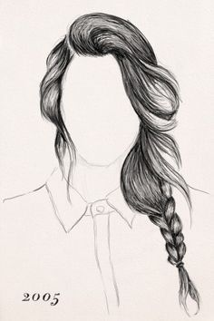 Drawn braid pencil drawing This Pin more on and