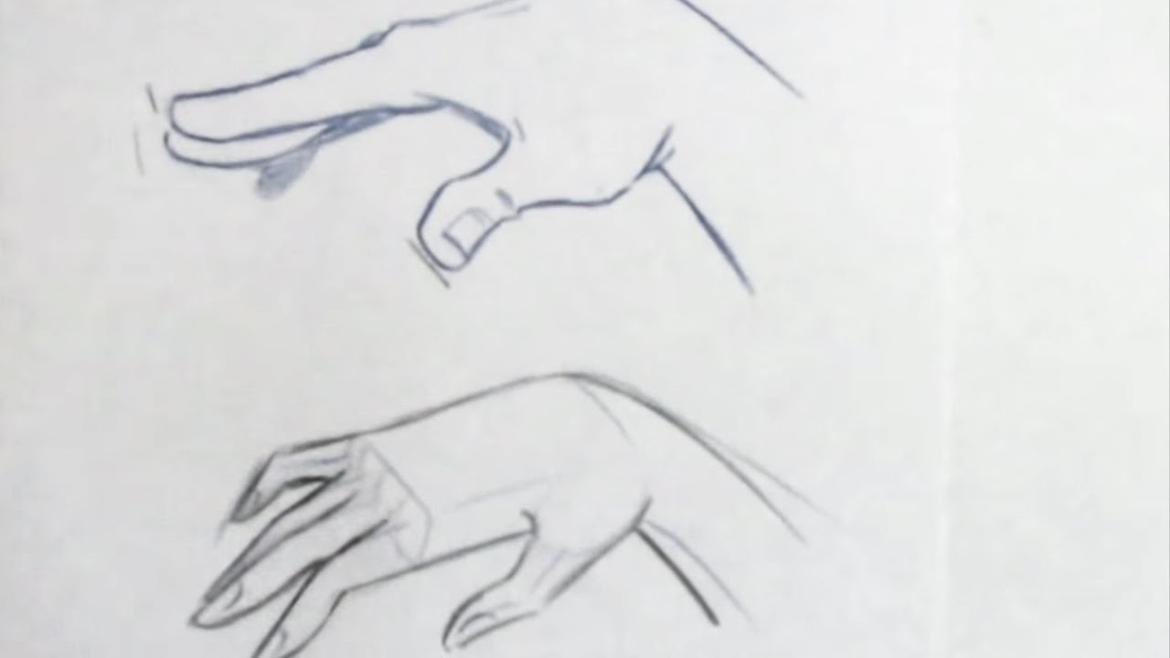 Drawn women hand sketch The to Hand YouTube How