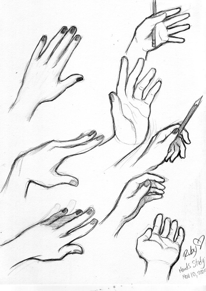 Drawn women hand sketch Best fingers about and and