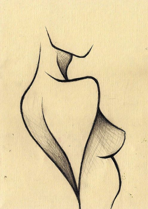 Drawn women line art Beautiful Pin line this on
