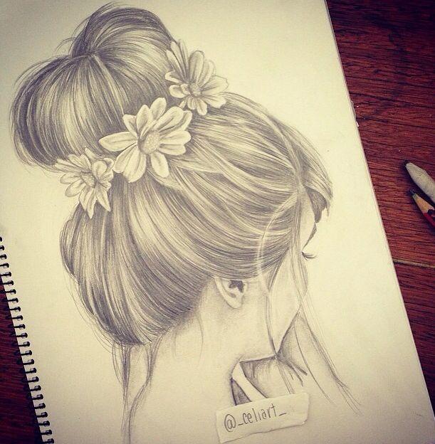 Drawn women long hair On drawings Girl ideas Best