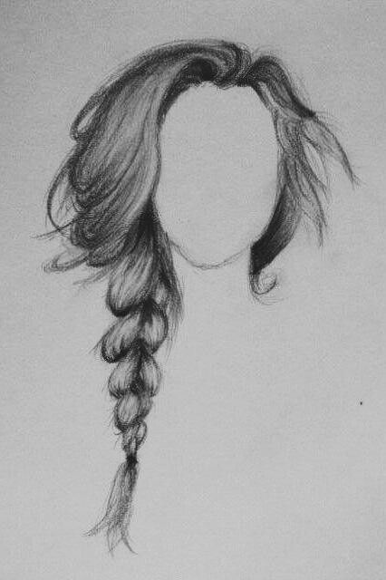 Drawn braid pencil drawing Braid drawing Best 25+ More