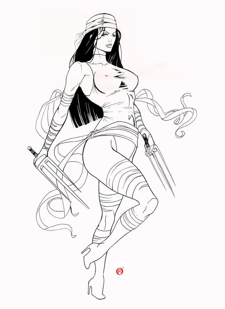 Drawn women marvel #7