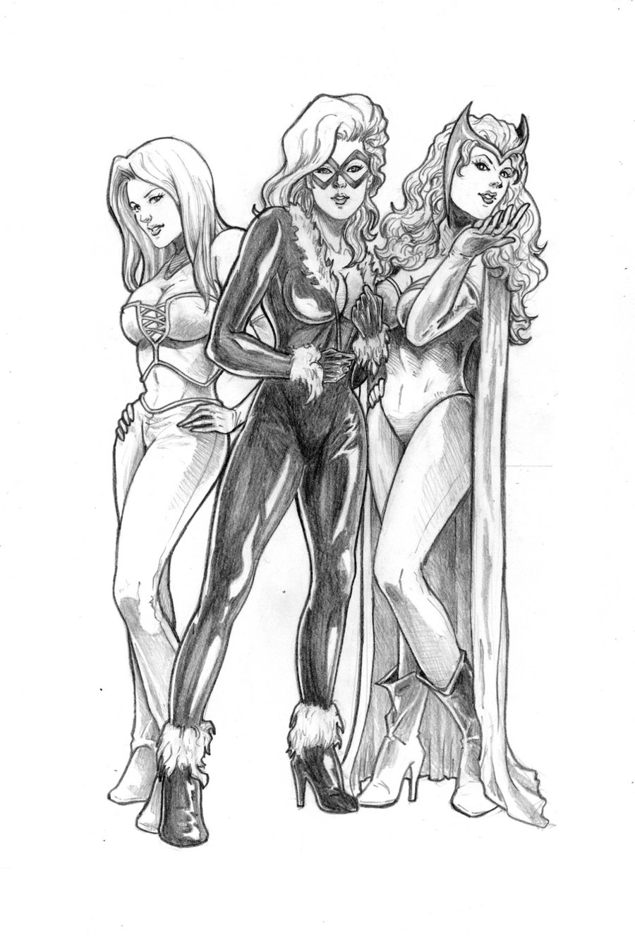 Drawn women marvel #1