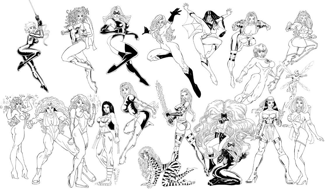 Drawn women marvel #3