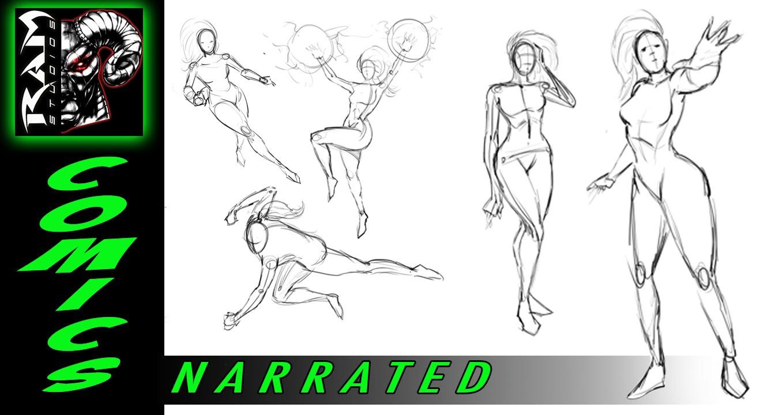 Drawn women muscular  Drawing Poses Marzullo Women