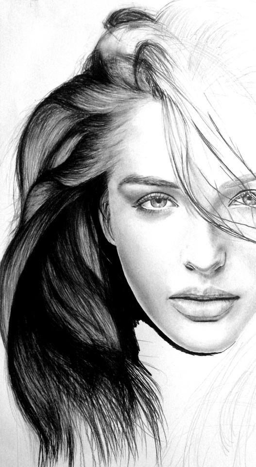 Drawn smoke face Realistic female Pinterest drawings 25+