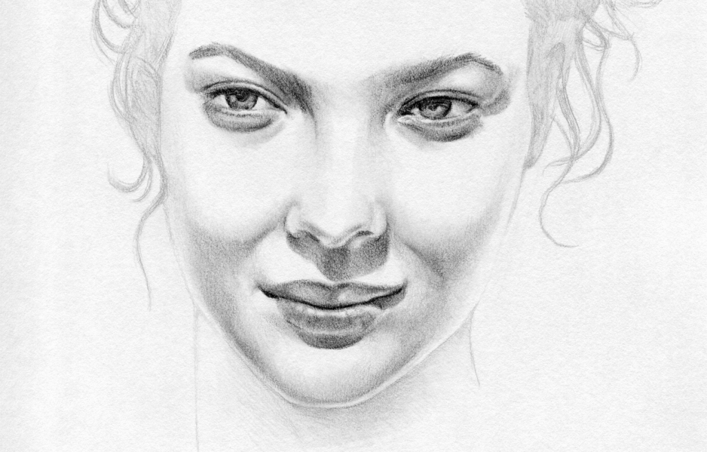 Drawn women pencil sketch Pencil Face Drawing Art Woman
