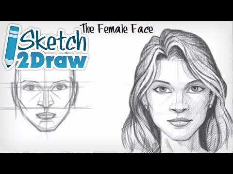 Drawn portrait human face To Female Face  YouTube
