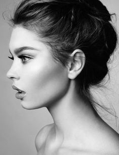 Drawn profile lady side face Expressions Find Drawing Pin of