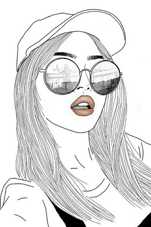 Drawn women pinterest Drawings ideas Hipster on iidonuttcaree