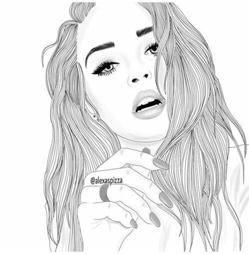 Drawn women pinterest On images Drawing Drawing on