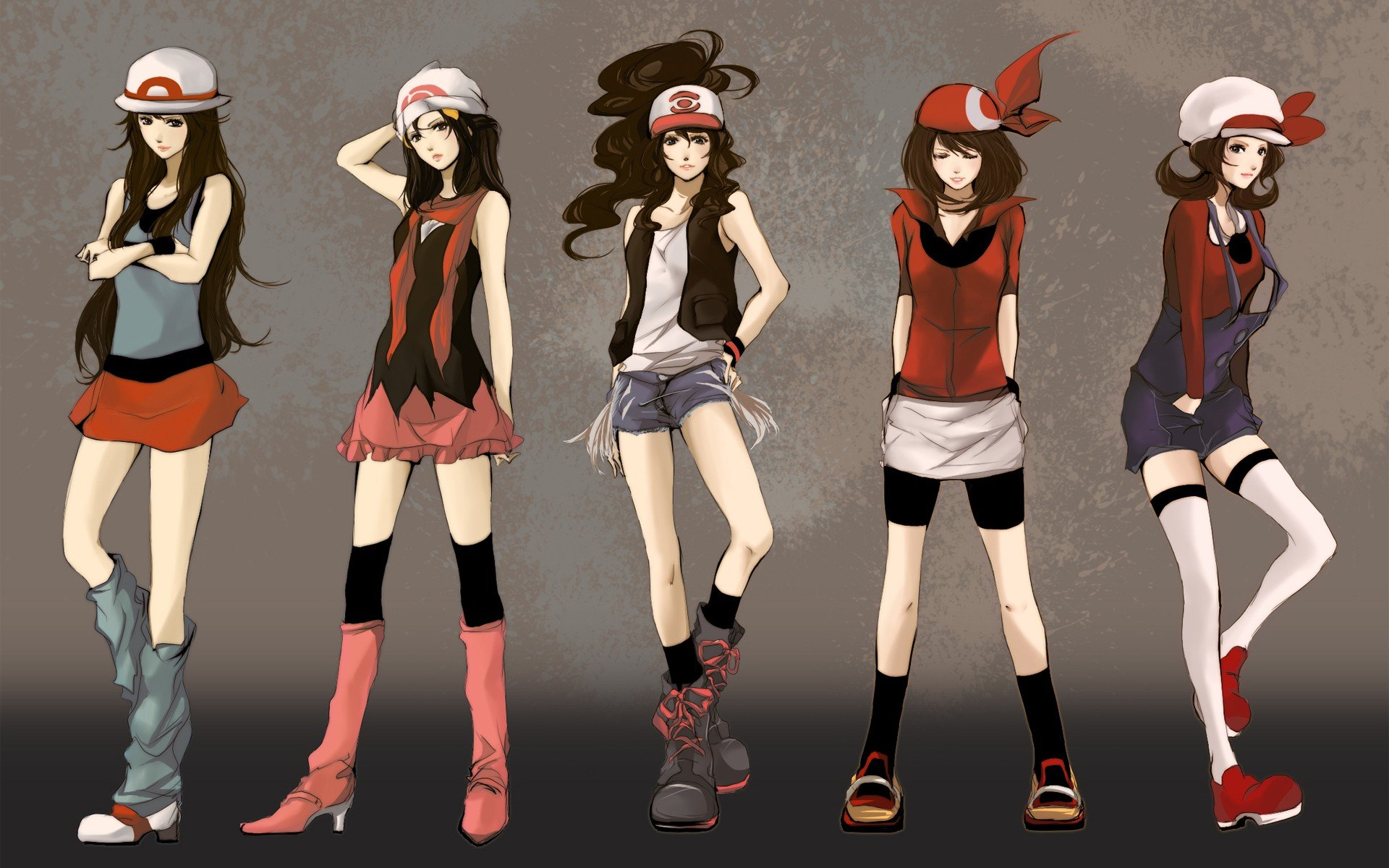 Drawn women pokemon Pokemon Cartoonish Pokemon Monsters Wallpaper
