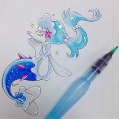 Drawn women pokemon An Primarina keen  Pinterest