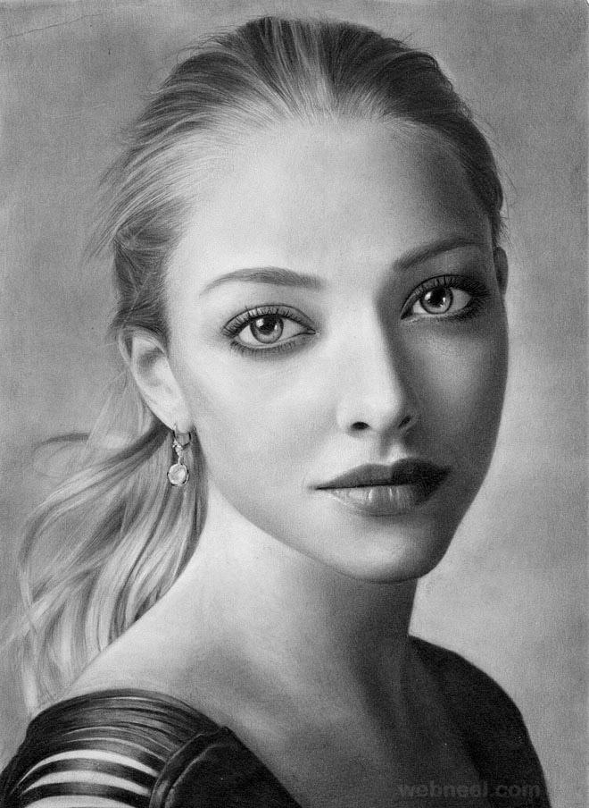 Drawn portrait portait Drawing realistic 40 Drawing Woman
